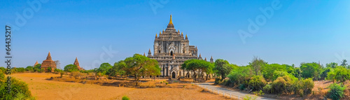 фотография  Panoramic view of Buddhist Temples in Bagan