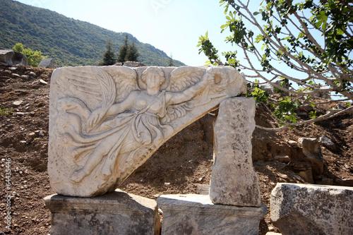 Fotografija  Stone Carving of the Greek Goddess Nike, Ephesus