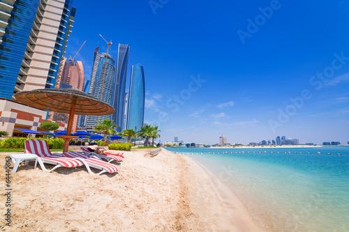 Canvas Prints Abu Dhabi Beach in Abu Dhabi, the capital of United Arab Emirates