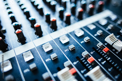 Fotografie, Obraz  Ton Mischpult / Audio Mixer