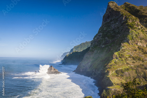 Cadres-photo bureau Cote northern coast near Boaventura, Madeira island, Portugal