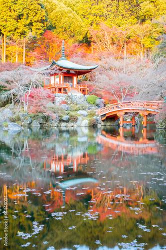 Photo Stands Zen Daigoji Temple Kyoto