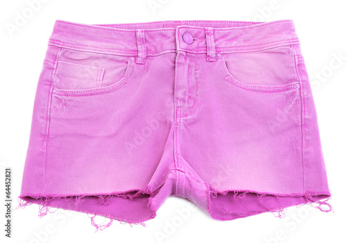 Fotografía  Women jeans shorts isolated on white