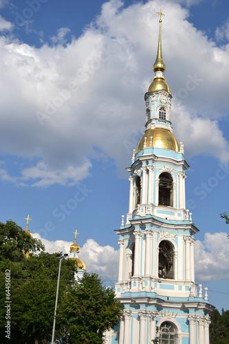 Spoed Foto op Canvas Bedehuis St. Nicholas Naval Cathedral, St. Petersburg