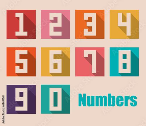 Cuadros en Lienzo Numbers design