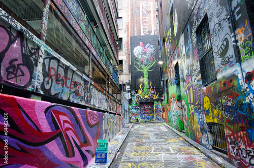 Printed kitchen splashbacks Australia Hosier Lane - Melbourne