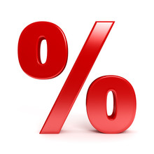 Red Percent Sign