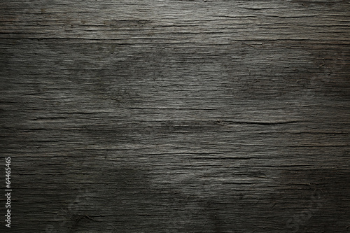 Poster Hout Dark wood background