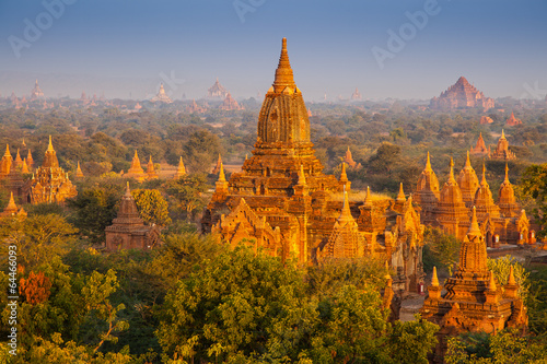 temples in Bagan, Myanmar Wallpaper Mural