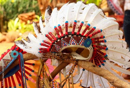 Fotografia native american indian chief headdress
