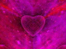 Colorful Heart Fractal Background