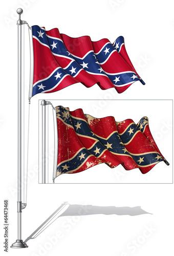 Fotografija  Flag Pole Confederate Rebel