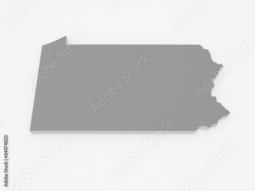 Pennsylvania In Usa Map.Three Dimensional Map Of Pennsylvania Usa Buy This Stock