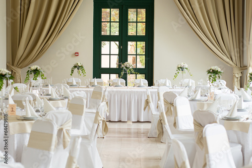Fotografía  Table set for an event party or wedding reception