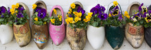 Dutch Wooden Clogs With Flowers