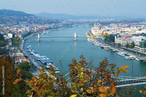 Foto op Aluminium Kust View on Budapest and Danube river, Hungary