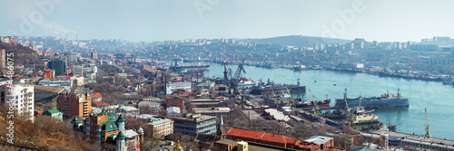Photo  Panorama of Vladivostok, Russia