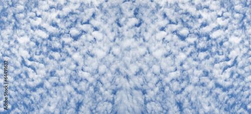 Cloudy sky altocumulus cloudscape background Canvas Print