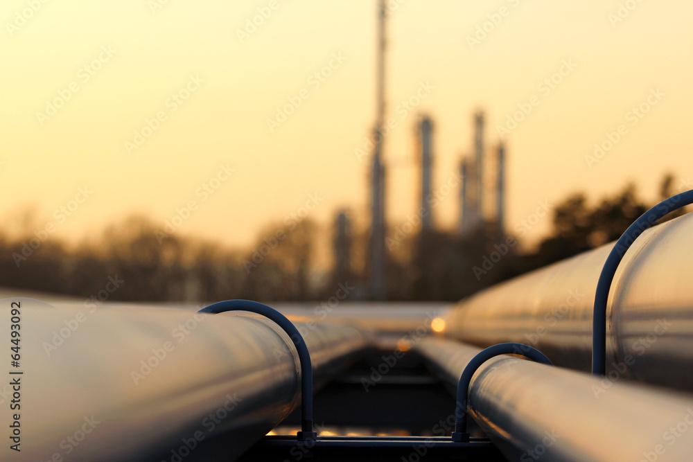 Fototapety, obrazy: pipe line transportation in crude oil refinery