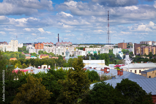 Fototapeta Top view of Vladimir obraz na płótnie