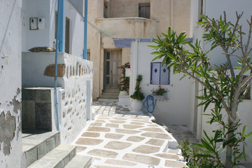 Back Street Alley Naoussa Cyclades Grece 09
