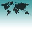 Weltkarte schwarz