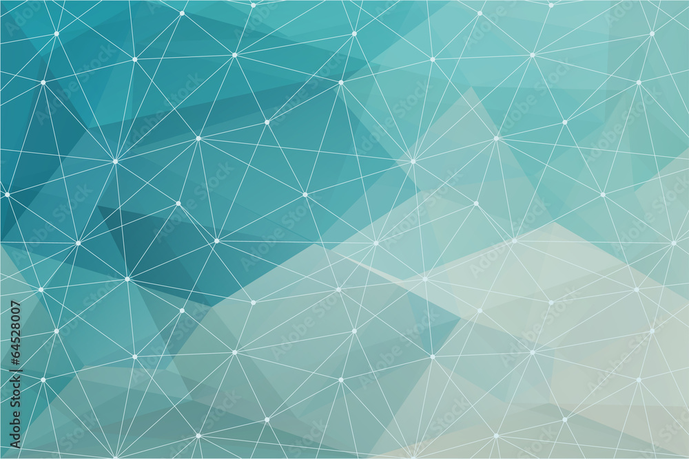 Fototapeta abstract polygonal background, vector