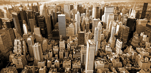 Obraz na SzkleManhattan top view