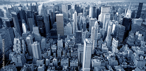 Photo sur Toile New York Manhattan top view