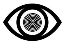 Eye Icon Vector With Spiral Design