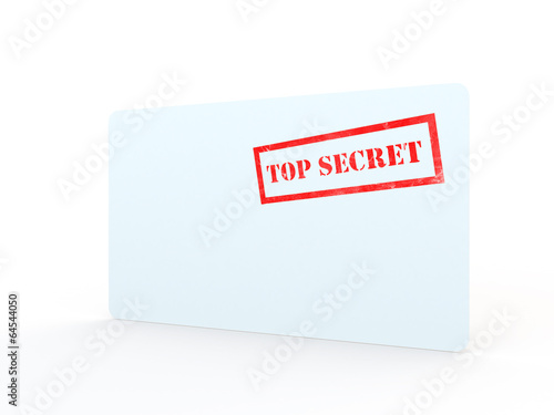 Stamped Closed Envelope With Top Secret Stamp On Front