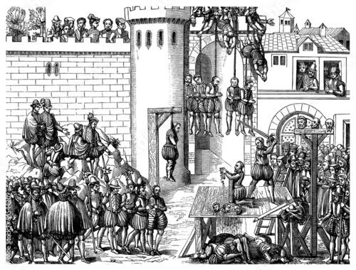 Death Penalties - Mises à Mort - 16th century Tablou Canvas