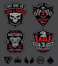 Motor Patches Emblem Set