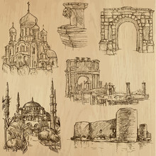 Famous Places And Buildings (vector Pack No. 21)
