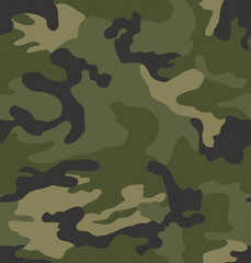 Panel Szklany Militaria Micro pattern camouflage seamless