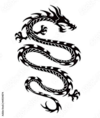 Photo  Tribal dragon tattoo