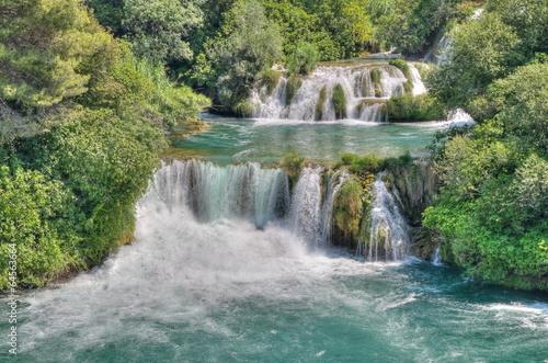 Recess Fitting Waterfalls Krka National Park in Croatia