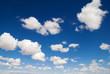 Leinwandbild Motiv White Clouds in the Blue Sky