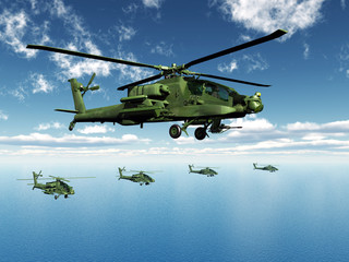 FototapetaApache Helicopters