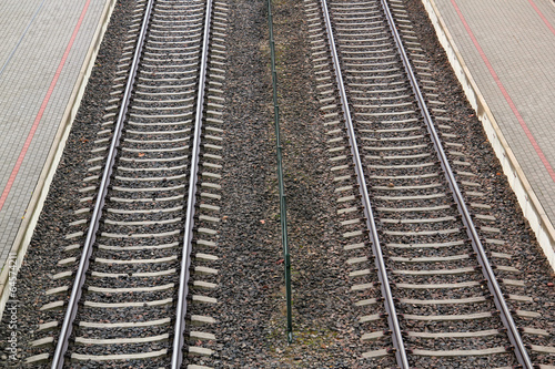 Poster Voies ferrées track