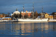 The Af Chapman Ship At The Skeppsholmen Island In Stockholm, Swe