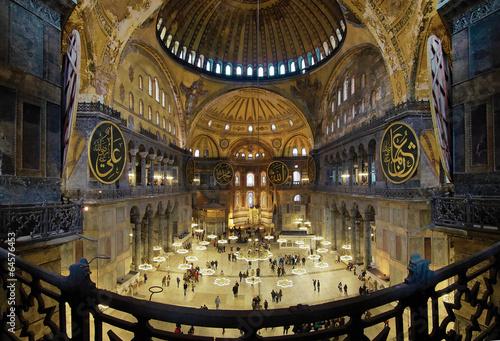 Photo  Interior of the Hagia Sophia in Istanbul