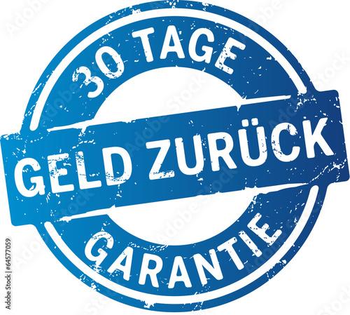 Fotografie, Obraz Button 30 Tage Geld zurück Garantie