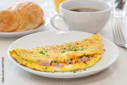 Fotografía  Ham and Cheese Omelet