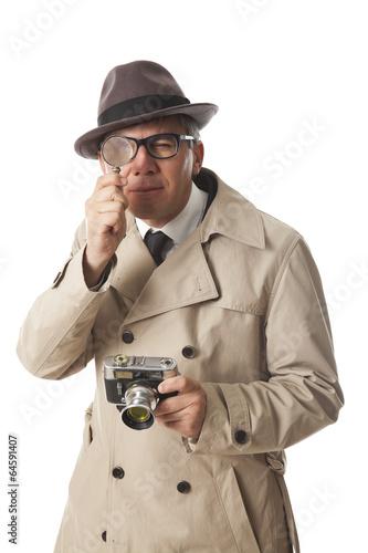 Photo  detective on white