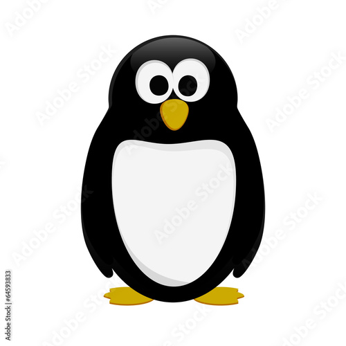 Fotografie, Obraz  Vector penguin in cartoon style