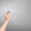 Airplane model in hand