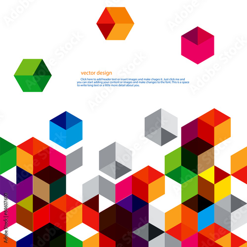 Fotografie, Obraz  Polygon vector design