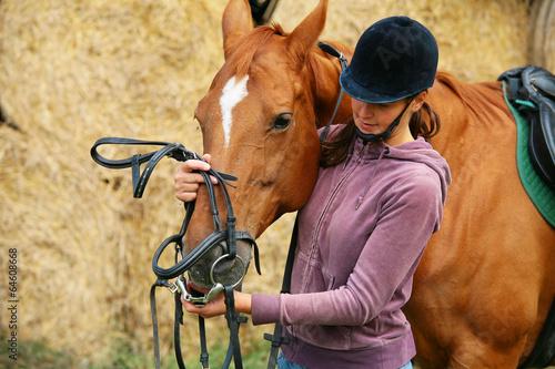 Fototapeta Horse riding