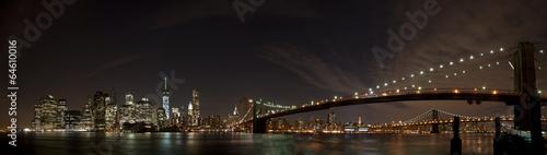 Photo  New York Night View Panorama